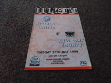 Hereford United v Newport County, 1999/2000 [HSC]